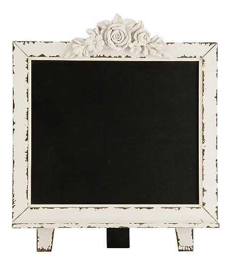 Amazon.com: Pizarra con pie, con marco de madera desgastado ...
