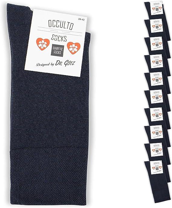 5-20 paia calze uomo da medico senza elastico 100/% cotone bianco resistenti ad alte temperature