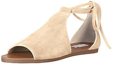 Steve Madden Womens Elaina Leather Open Toe Casual Natural Suede Size 70