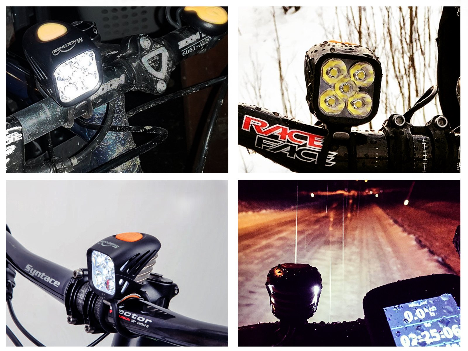 Magicshine MJ 906, High Grade MTB Enduro Bike Light Set, 5000 Lumens of Max output. Wireless Remote Bicycle Lights Front And Rear Combo, LED Bike Tail Light, Perfect Beam Pattern Bright Bike Light by Magicshine (Image #4)