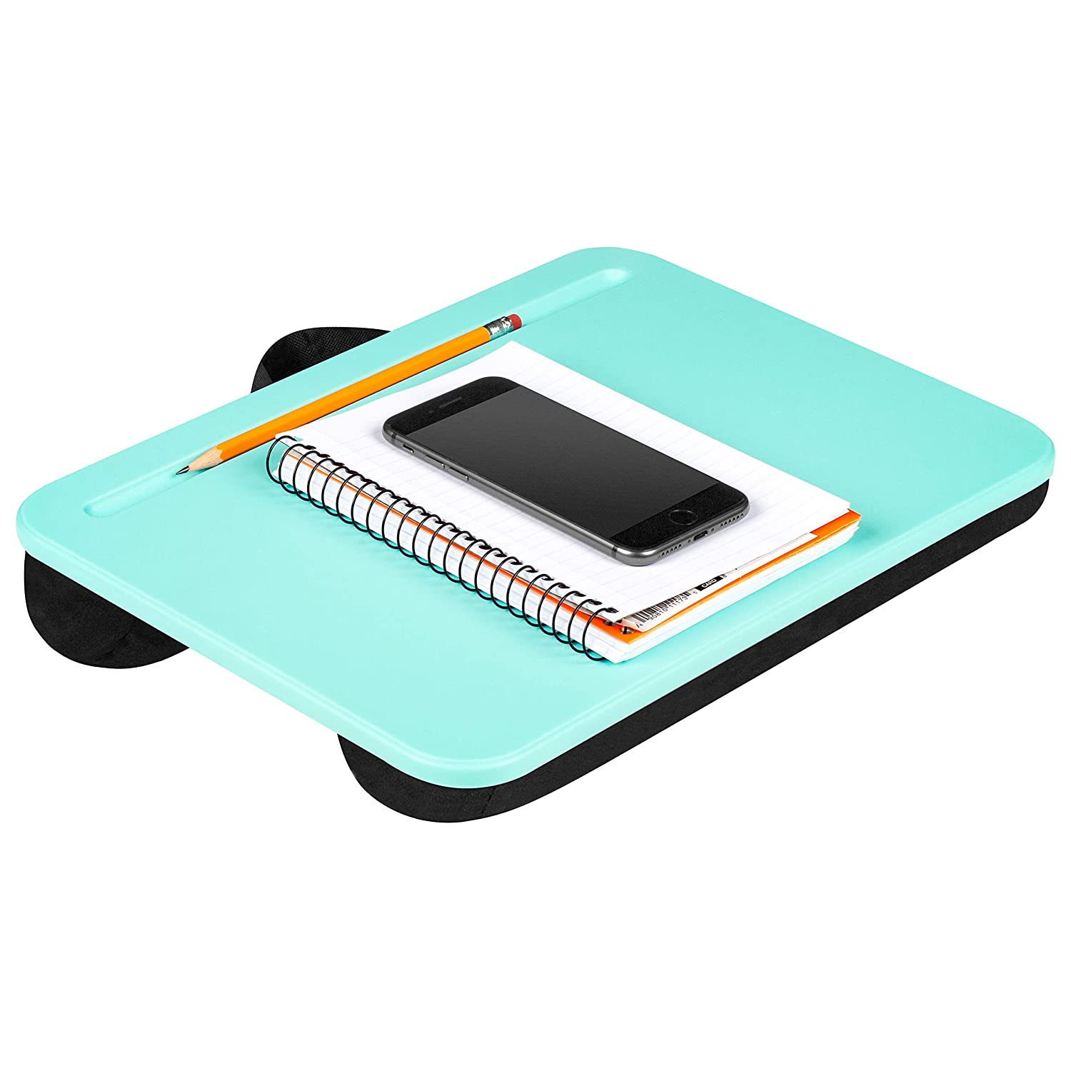 LapGear Compact Lap Desk - Aqua Sky - Fits Up to 13.3 Inch Laptops - Style No. 43109