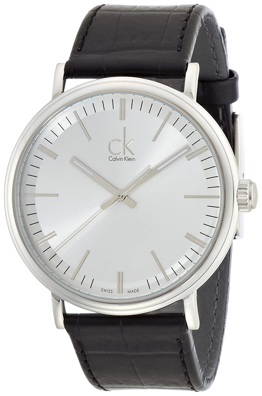 Calvin Klein Herren-Armbanduhr XL ck surround Analog Quarz Leder K3W211C6