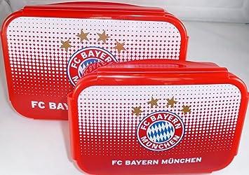 - Fanartikel-Unisex FC Bayern M/ünchen Brotdose 2Er-Set
