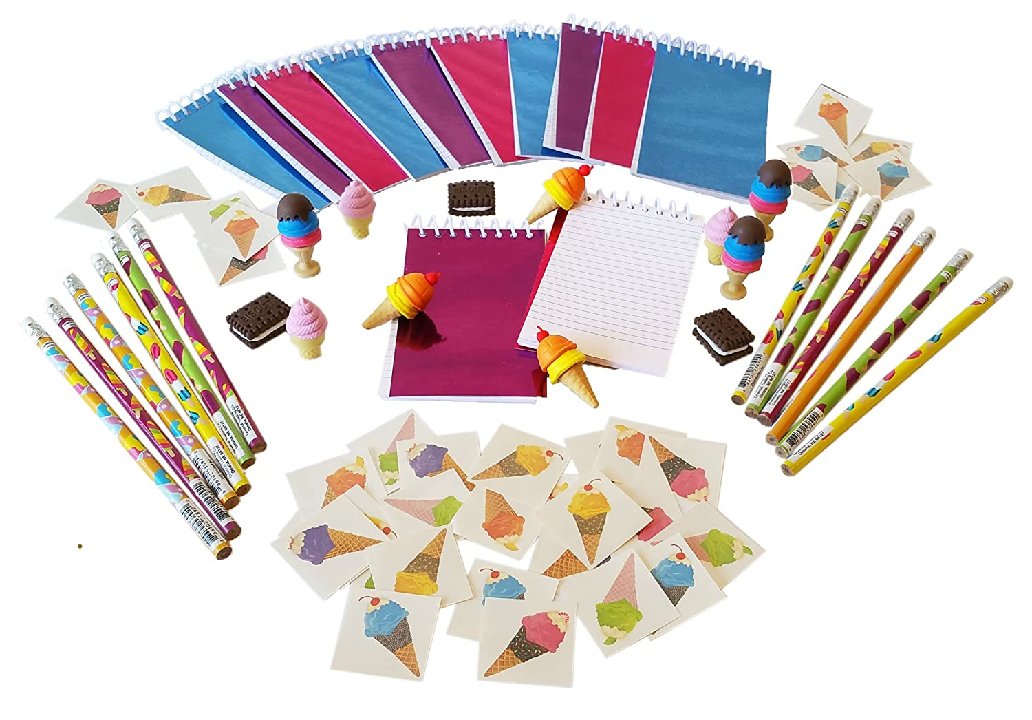 a93455e49 delicate Wiser Road Sweet Treats Ice Cream Notepads, Pencils, and Erasers  with 36 Bonus