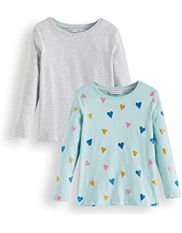 d17082764 RED WAGON Girl's Long Sleeve Top, Pack of 2