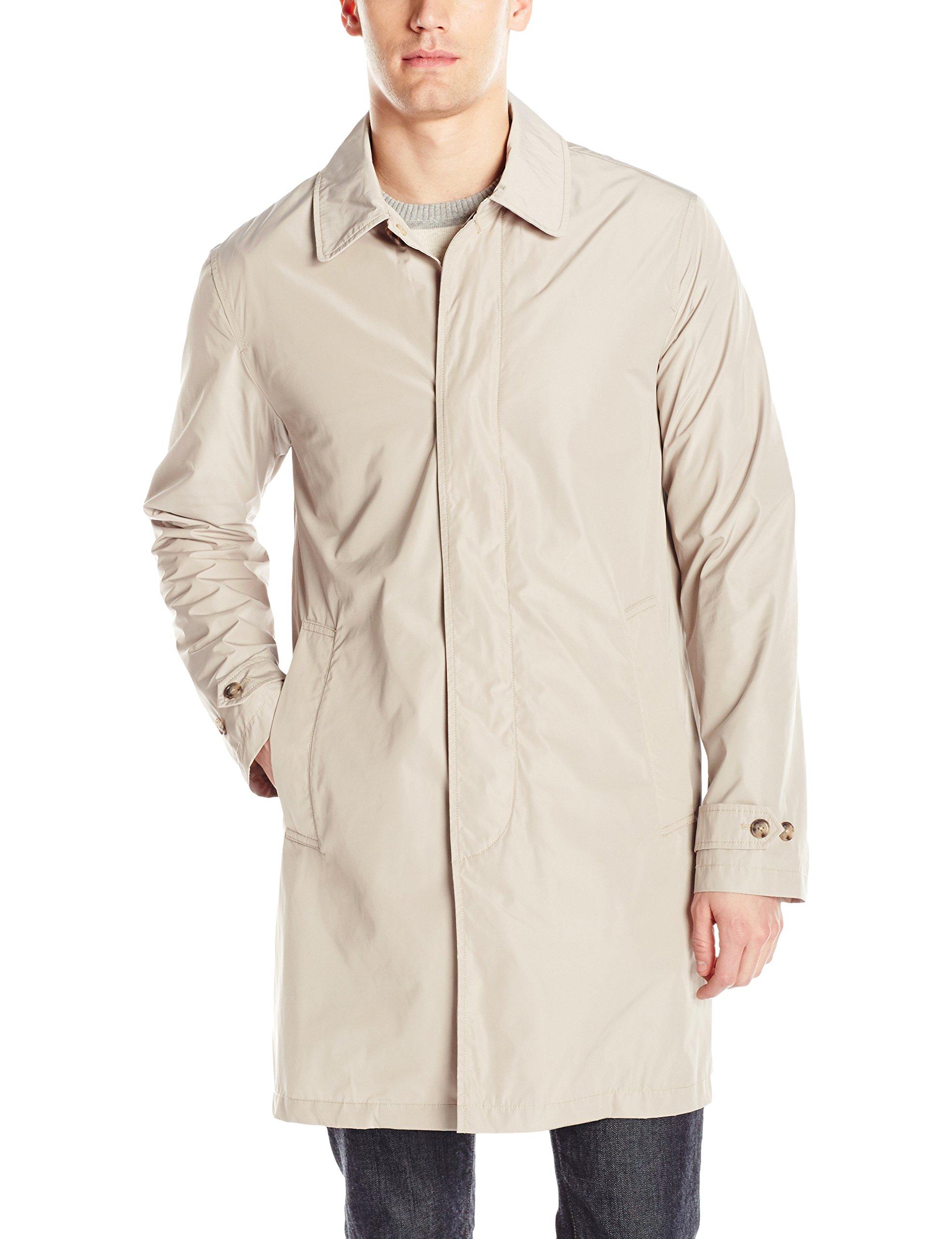 Jack Spade Men's Packable Trench Coat, Light Khaki, Large