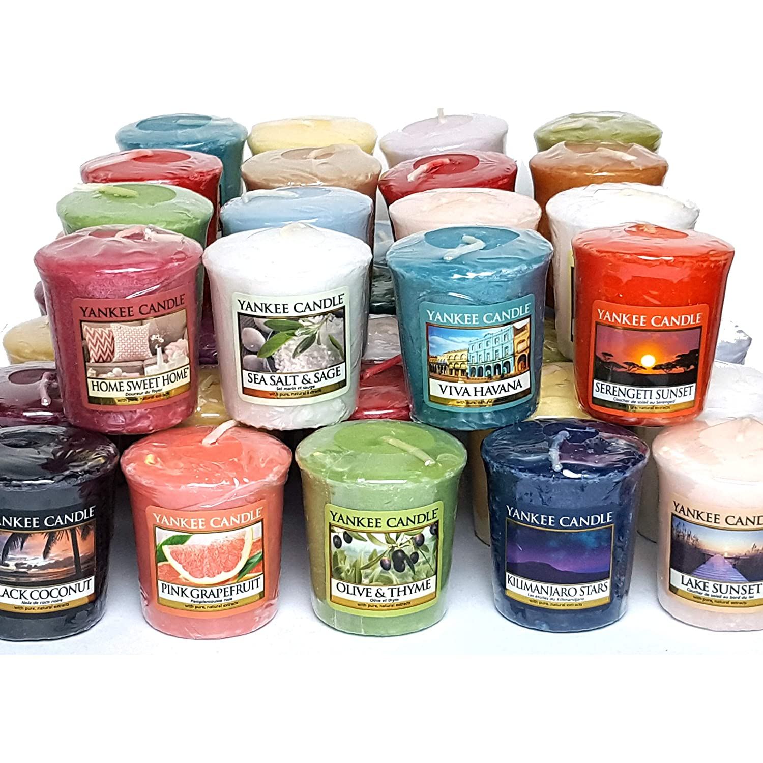 40 x Official Yankee Candle Votive Samplers Assorted Fragrances From The Entire Classic Range My Planet Yankee Candle MPYC-001