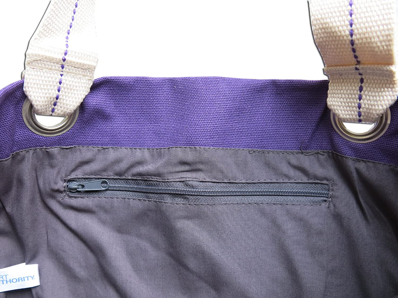 Baseball Tote Bag RICH Dye Washed Purple COTTON CANVAS