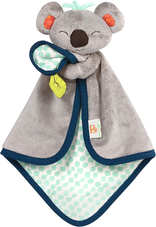 Battat- B. Snugglies – la Manta de Seguridad del Esponjoso Koko el Koala – Adorable cobija para bebé de Tela Suave (Branford Ltd. BX1565Z)