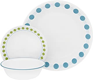 product image for Corelle Service for 6, Chip Resistant, South Beach dinner plates, 18-piece