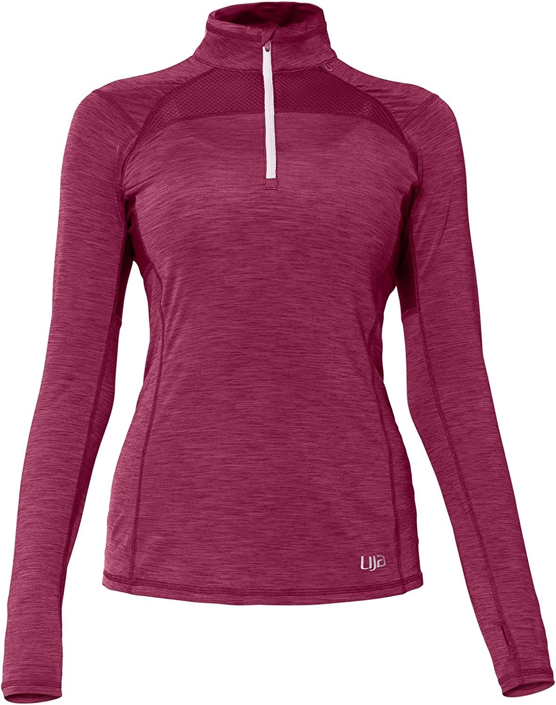 Lija Womens Stride 1//4 Zip Pullover