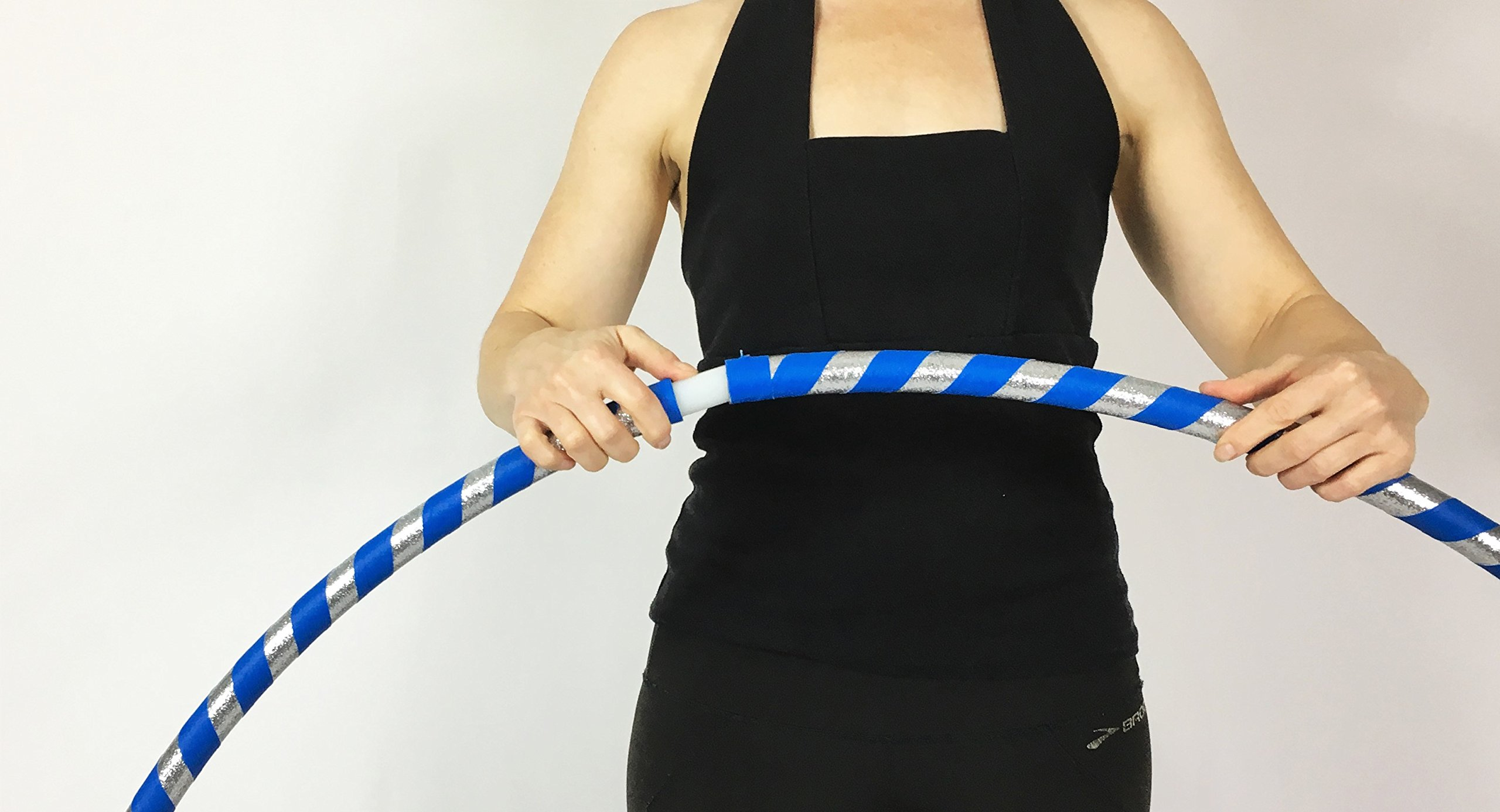 Weighted Hula Hoop for Exercise and Fitness - Glitter & Prismatic Tapes by Canyon Hoops (Image #5)