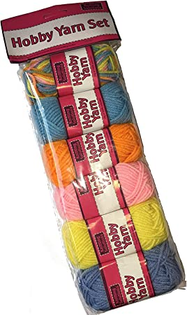 Girls Learner Knitting Set Yarn Needle Coloured Wool 7Balls Knit Your Craft New