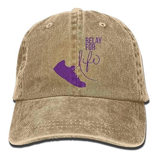 Amazon.com  Unisex Adult Baseball Caps Relay for Life Run Cowboy ... b3b5d0ea0a1