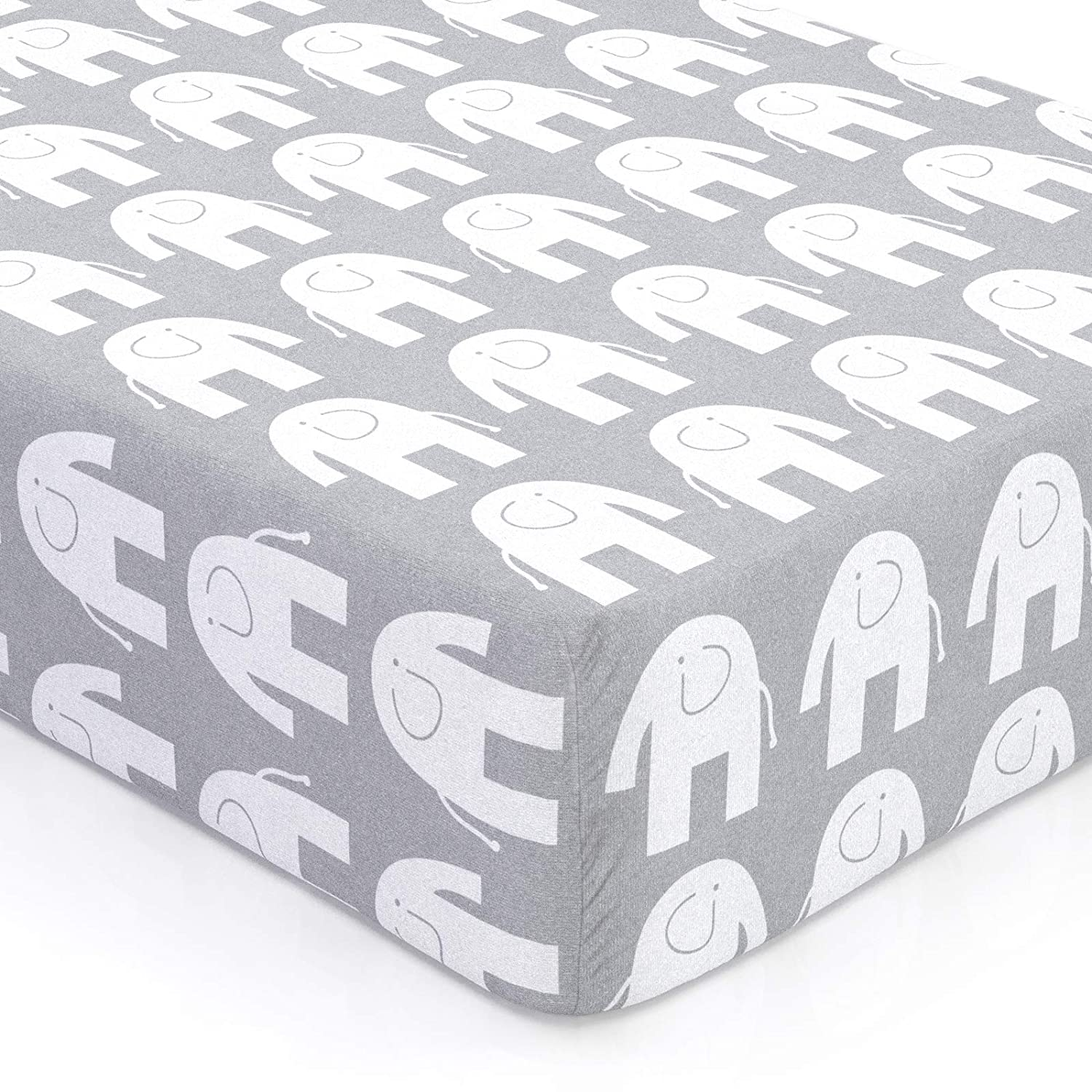 Crib Sheet /& More MADE TO ORDER Mint Elephants  Organic Minky,or Cotton:Fitted Crib SheetChanging Pad CoverMinky BlanketCrib Skirt+More
