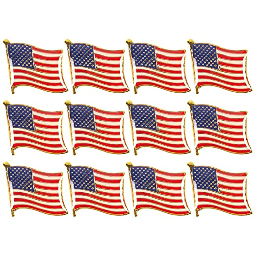 American Flag Lapel Pins - USA Lapel Pins, US Flag Pins for Patriotic  Display, 24-Pack and 12-Pack
