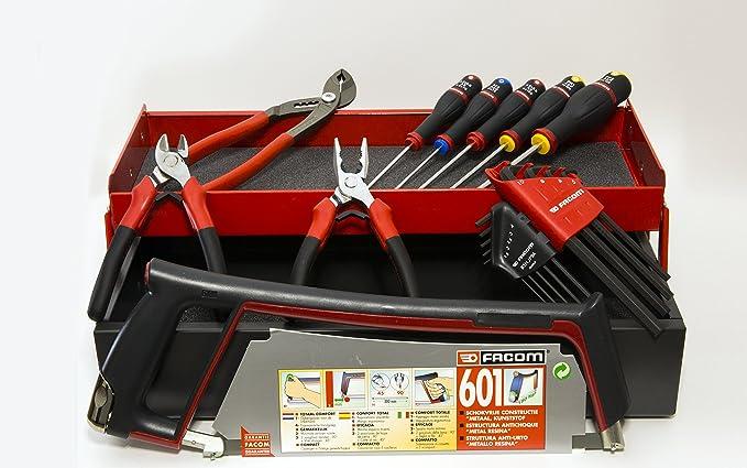 FACOM-Caja de herramientas de mano 18 herramientas fabricados en Francia.: Amazon.es: Bricolaje y herramientas