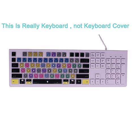Dogxiong for Adobe Photoshop Shortcuts Hot Keys USB Keyboard (Work for Mac  OSX Mac iMac Pro Mini, MacBook Pro Air, PC Window Desktop Notebook,Cover)