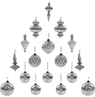 Amazon.com: Sullivans OR4676 Assorted Glass Drop Ornament 3 Sets ...