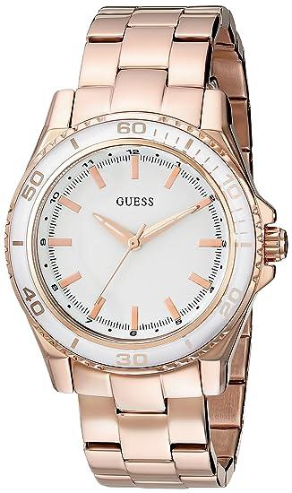 a85742ed9d54 GUESS Classic Reloj de mujer cuarzo 36mm correa y caja de acero U0557L2   Guess  Amazon.es  Relojes