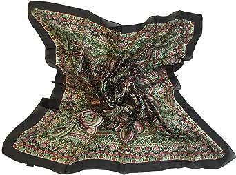 "Paisley Luxury 100% Silk Square Scarf - Extra Large Size 40"" X 40"" (100 cm X 100 cm)"