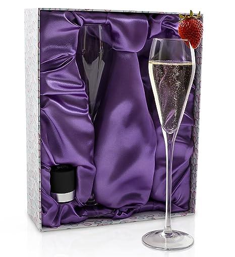 Champagne flute set crystal champagne stopper elegant crystal flutes designed to enhance taste