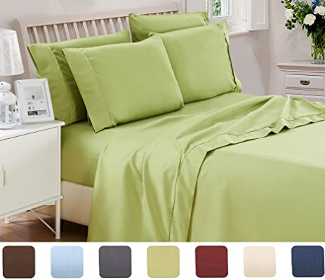 3 Piece Lux Decor Bed Sheets Set ,Hotel Quality Brushed Velvety Microfiber  Flat Sheet +