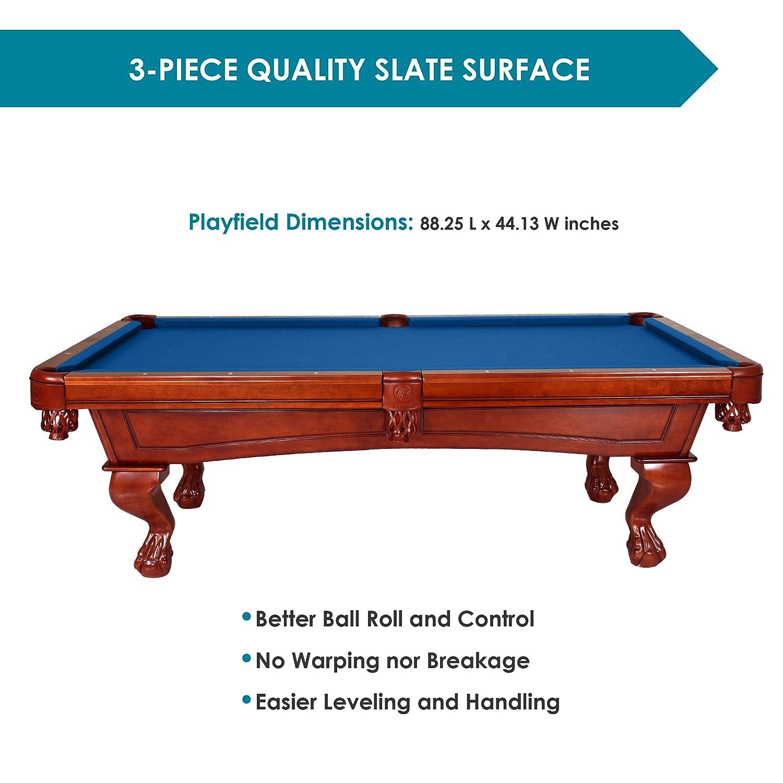 Amazoncom Harvil Bellagio Slate Pool Table Foot With Blue Felt - Leveling pool table slate