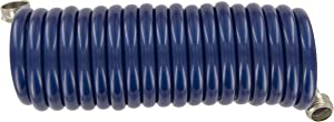 Plastair SpringHose PUW615B9-M-3-AMZ Light Polyurethane Lead Free Drinking Water Safe Marine/RV Recoil Hose, Blue, 3/8-Inch by 15-Foot