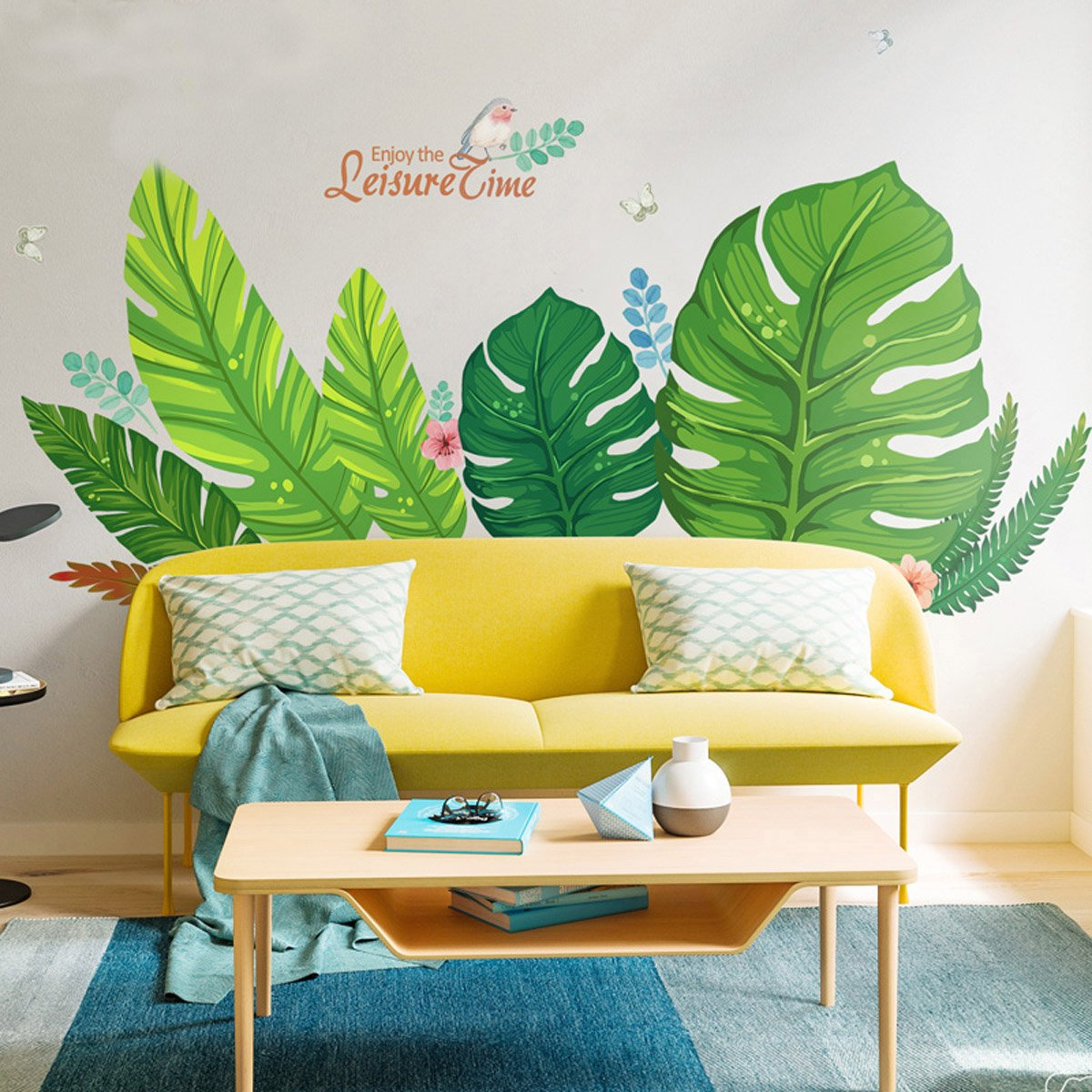 Amazon.com: YIHOPAINTI DIY Removable Wall Decal Stickers Love Palm ...