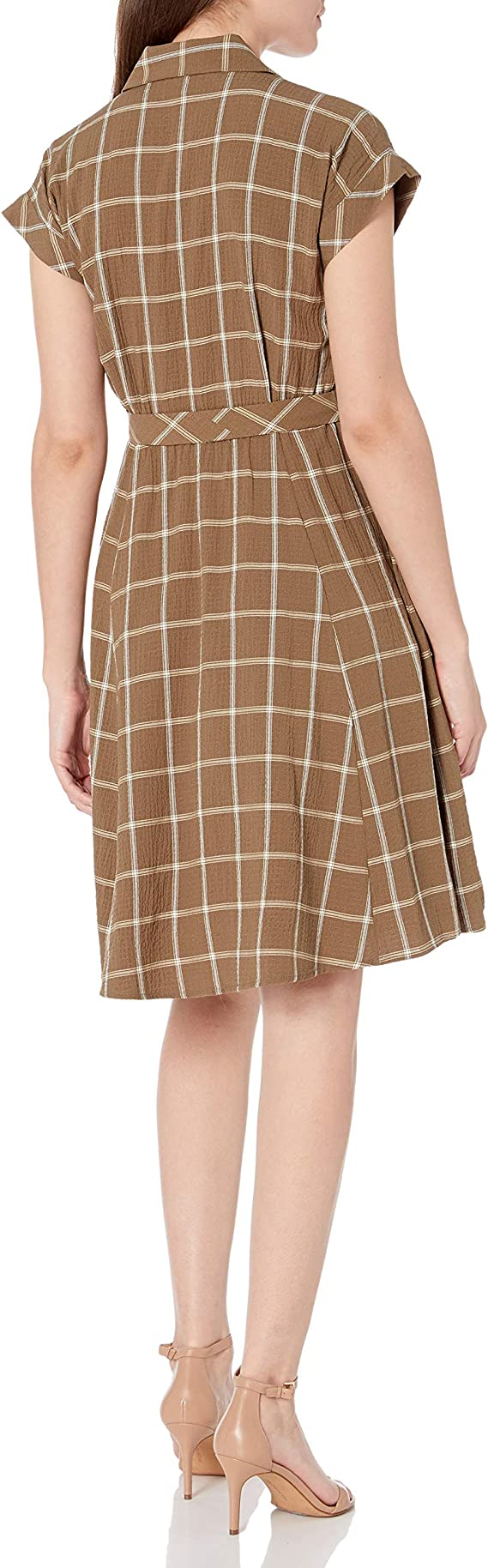 Calvin Klein Damska A-line Dress with Collared Neck Kleid: Odzież