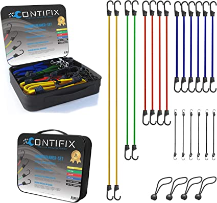 Juego de 25 cuerdas elásticas (pulpos) de Contifix, prémium ...
