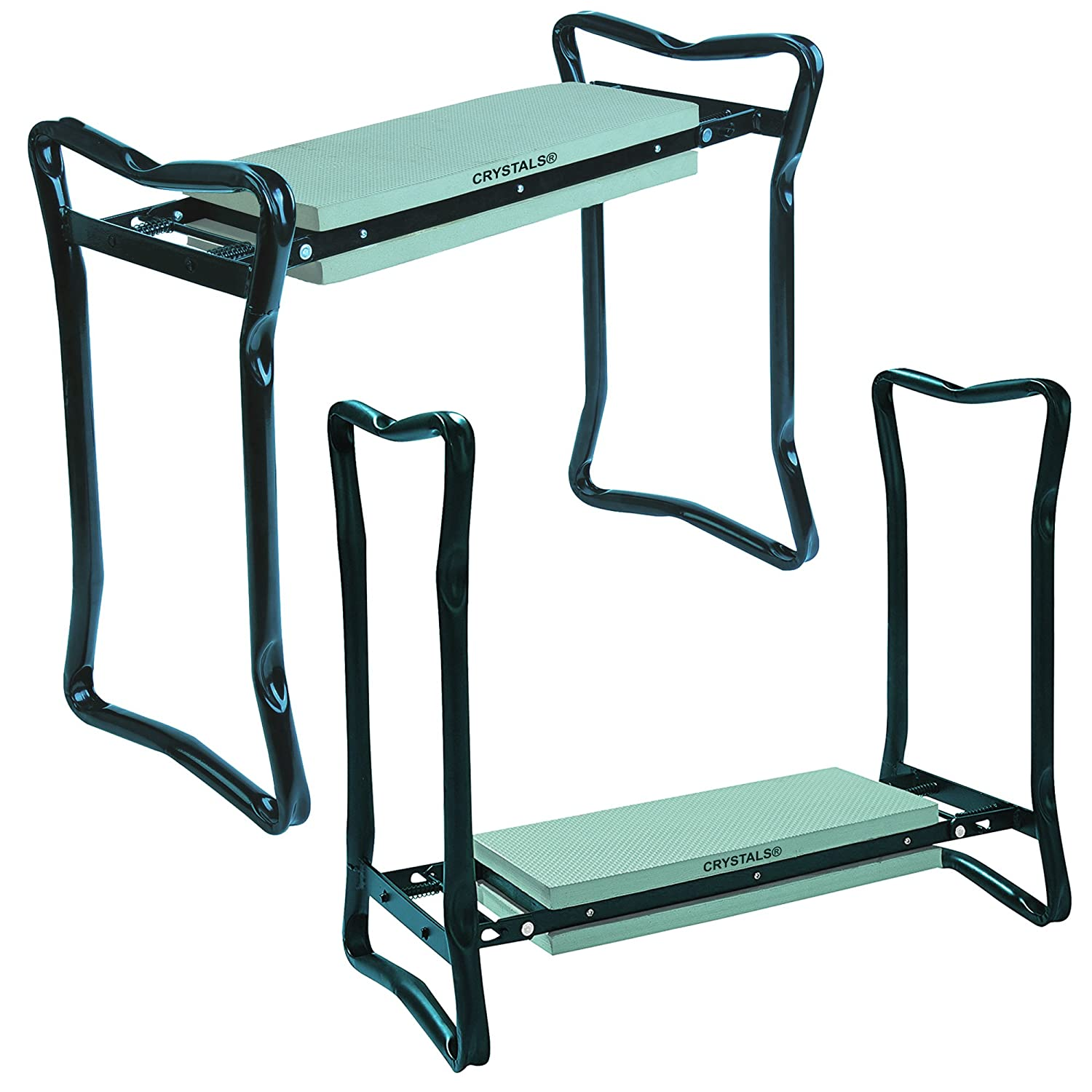 Crystals Heavy Duty Portable Foldable Foam Padded Garden Kneeler Gardening Knee Pad Metal Stool Seat by