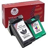 Toner Kingdom 2 Paquete Compatible HP 350XL 351XL 350 351 Cartuchos de tinta Por Photosmart C4480 C4580 C4380 C4348 C4270 C4272 C4275 C4483 C5273 C5275 C5280 C5283 C5200 C4585 C4500 C4485 C4210 C4400 C4280 C4283 C4345 C5250 C5293 Deskjet D4200 D4263 D4360 Officejet J6450 J5785 J6415 Impresora Alto rendimiento (1 Negro + 1 Color)