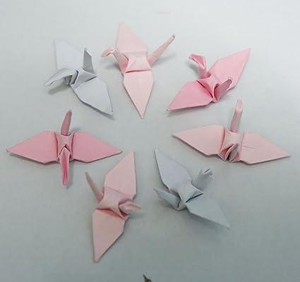Amazon.com: 100 papel de Origami grúas rosa 1.5