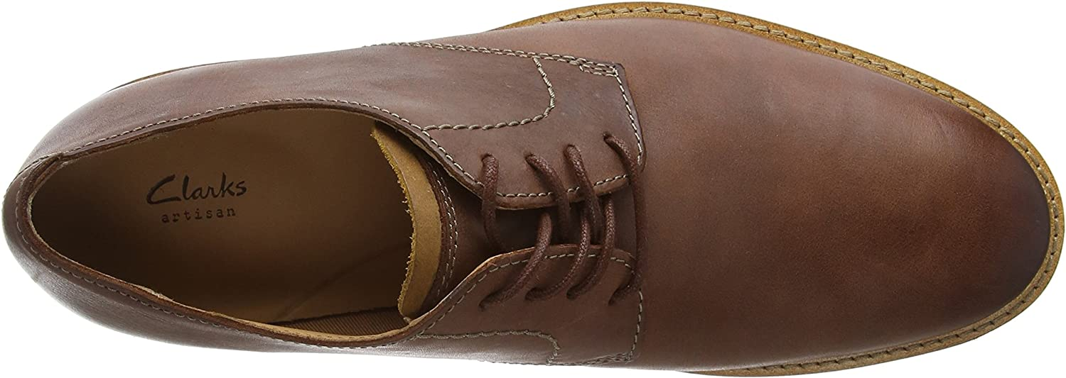 Clarks Atticus Lace Mens Oxford Shoes Mahogany Leather 26136156