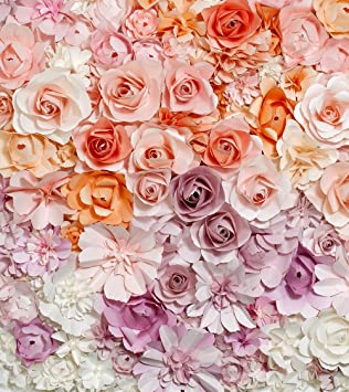 10x10ft Pink Coral Cream Roses Floral Backgrounds Digital Printed 3d Flower Wall Backdrop Wedding Indoor Newborn
