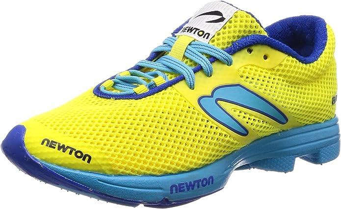 Newton Running Distance Elite, Zapatillas de Running para Mujer, Amarillo neón Amarillo Azul 001, 36 EU: Amazon.es: Zapatos y complementos