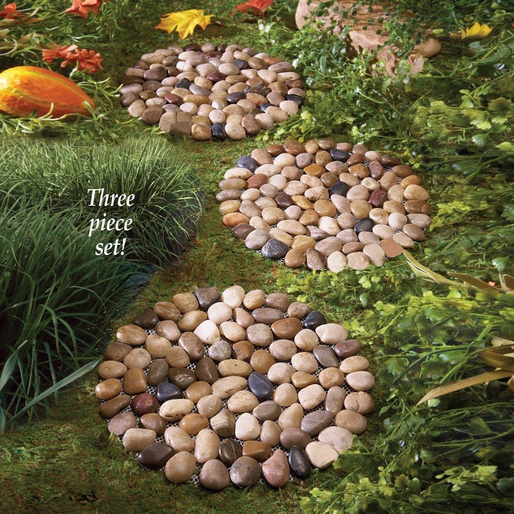 Amazon.com : Limestone Rock Stepping Stones - Set Of 3 : Garden ...