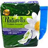 Naturella Cuidado Nocturno Night Toallas, 28 Count and Tesadorz Resealable Bags