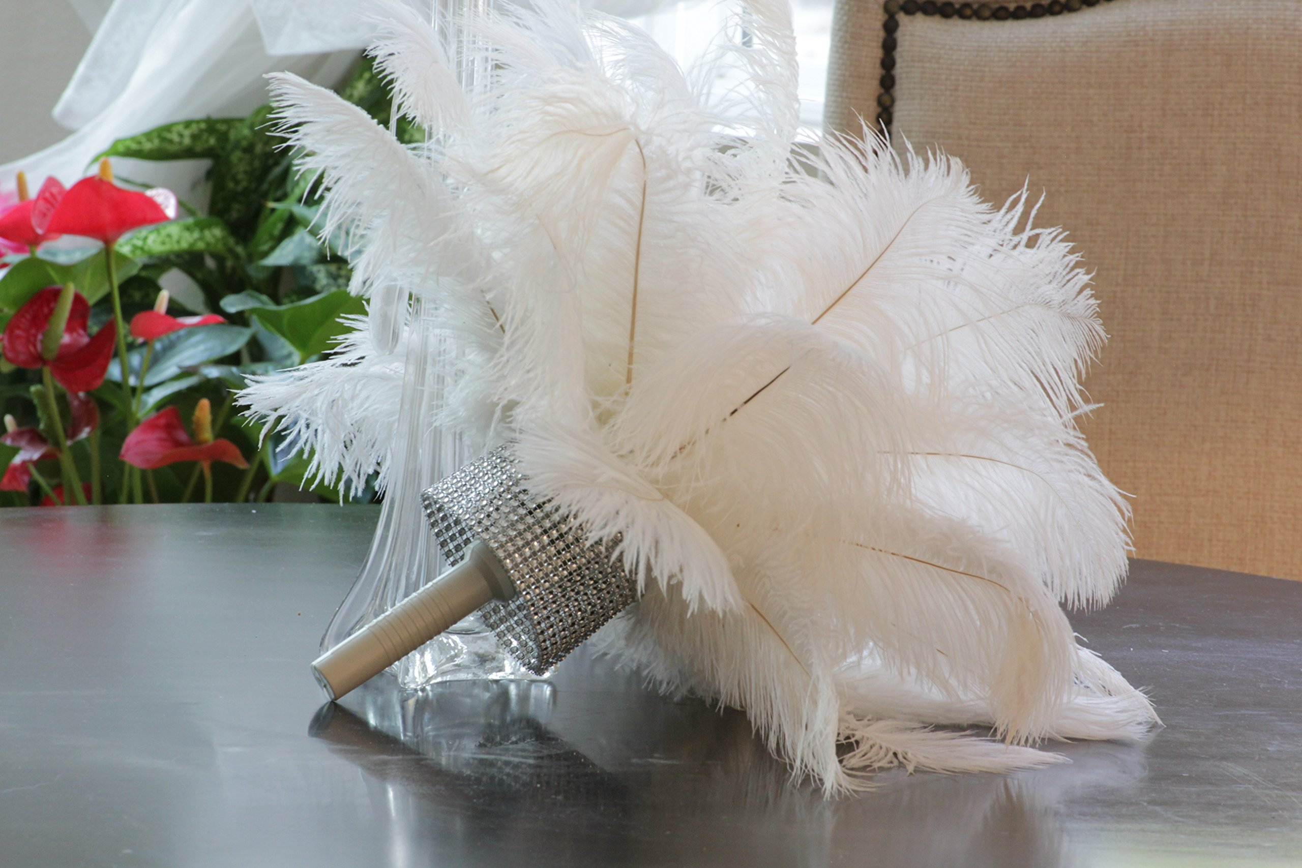 Special Sale Genuine OSTRICH Feathers Wholesale Bulk 10-14'' long DELUXE Feathers BLEACH WHITE