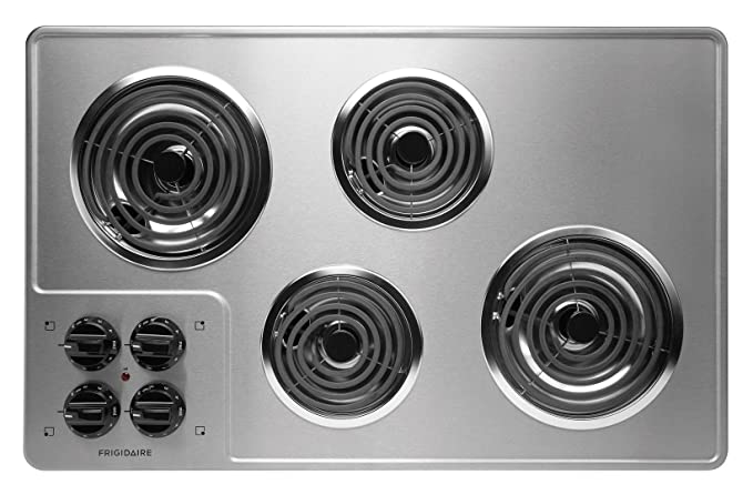 Electric cooktop Glass Image Unavailable Amazoncom Amazoncom Frigidaire Ffec3205ls Electric 32 Inch Stainless Steel