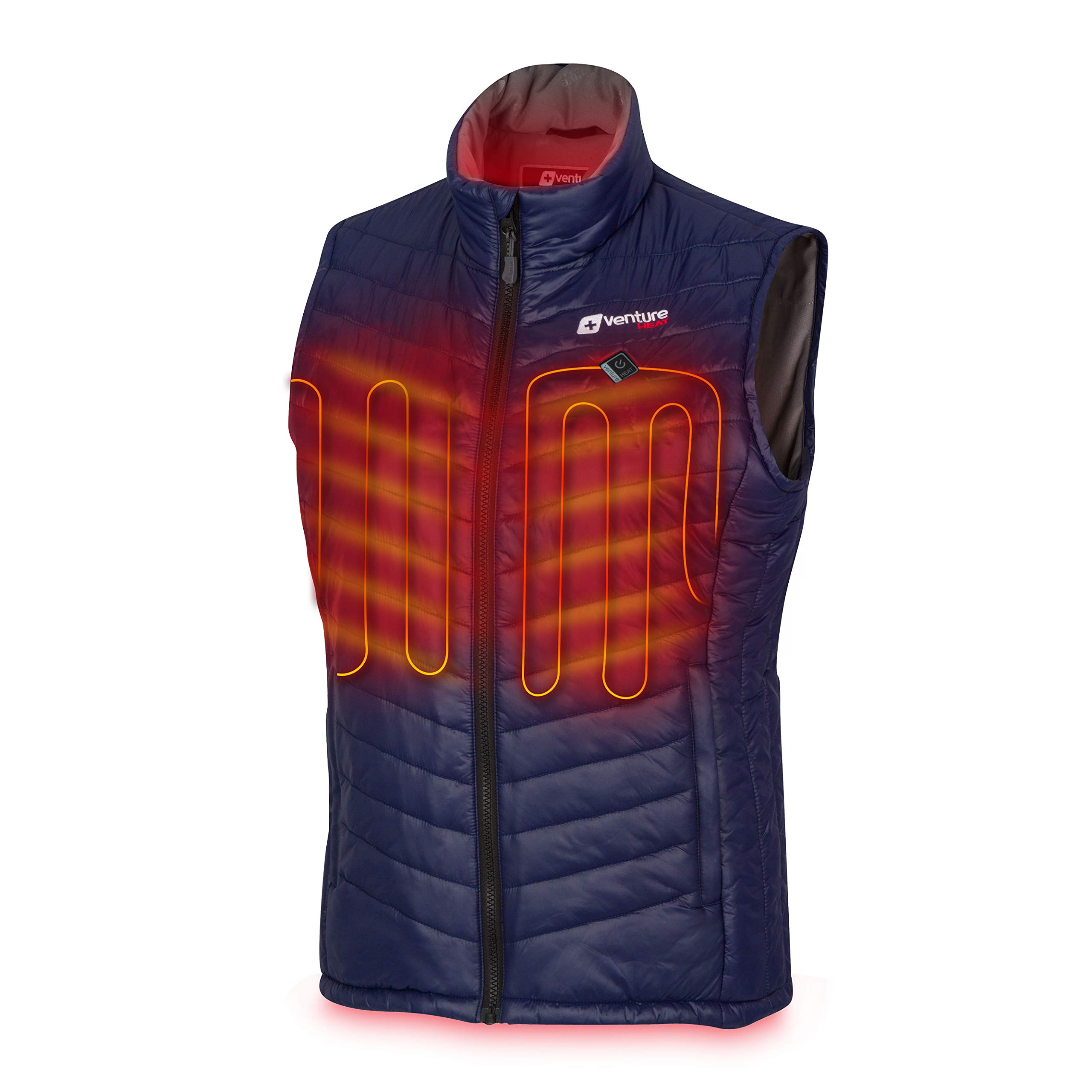 Venture Heat Women's Heated Vest with Battery Pack - Insulated Electric Jacket, Puffer Vest, Roam 2.0 (M, Navy) by Venture Heat