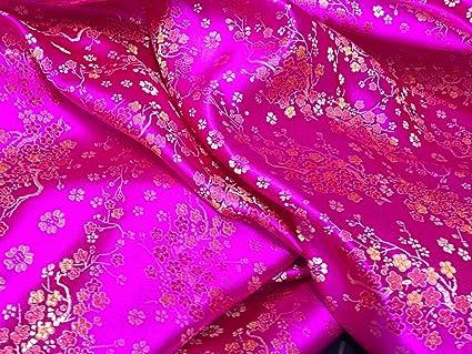 PRESTIGE telas brocado de seda China Oriental flor vestido, vestidos de traje, vestido de