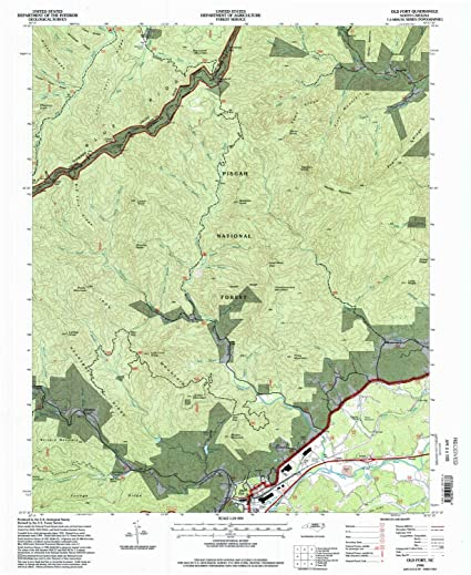 Old Fort Nc Map.Amazon Com Yellowmaps Old Fort Nc Topo Map 1 24000 Scale 7 5 X