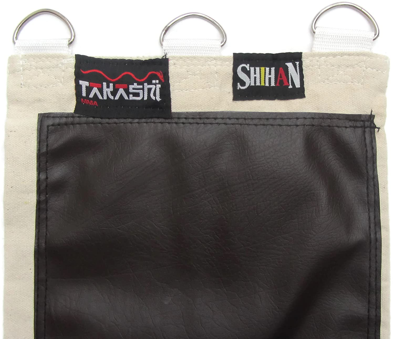 3 Sections Rexion Rezā LEATHER Wing Chun Canvas Wall Striking Bag 3 Unit - SHIHAN, New Design With Zipper Protection , Iron Palm. Makiwara Hand Training Sand Wall Bag Canvas Wall Striking Bag 3 Section's Wing Chun Kung Fu Sand Wall Bag with Hanging D-Ring