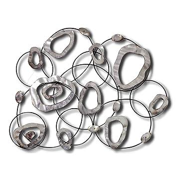 Sesam Decoration Wanddeko Metall Grau Silber 95 X 78 X 5 Cm