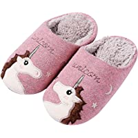 shevalues Animal House Slippers for Women Fuzzy Hedgehog Home Shoes Waterproof Sole Indoor Slippers