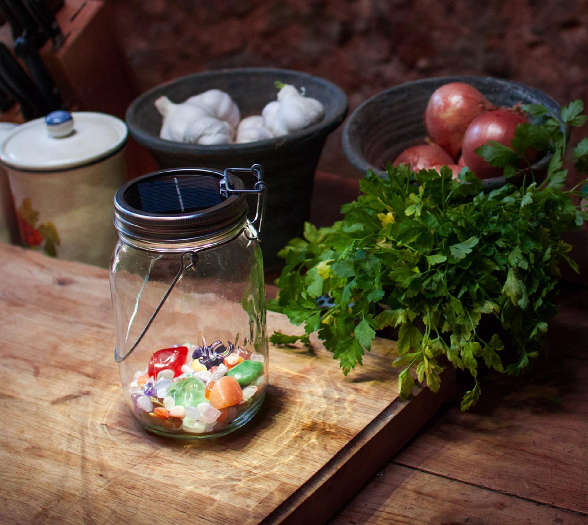 Sonnenglas Solar Jar Solar Powered Led Lantern Table Light With