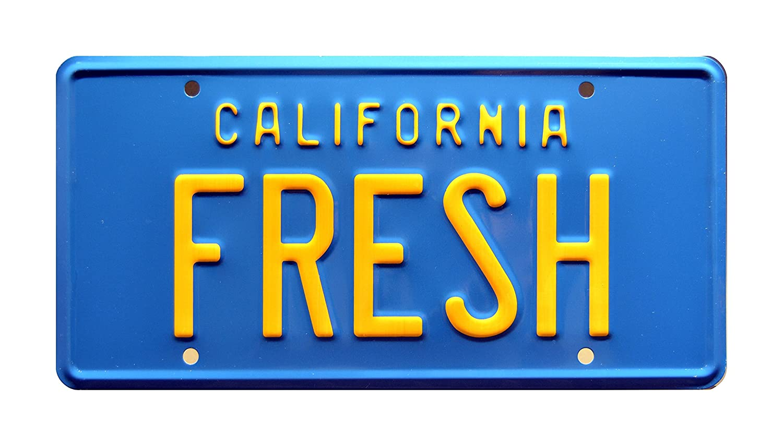 Taxi Fresh Metal Stamped Vanity Prop License Plate The Fresh Prince of Bel Air